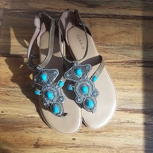 Torrid Sandals NWT size 9 WIDE
